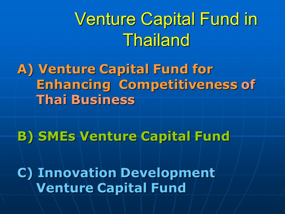 Venture Capital Fund in Thailand