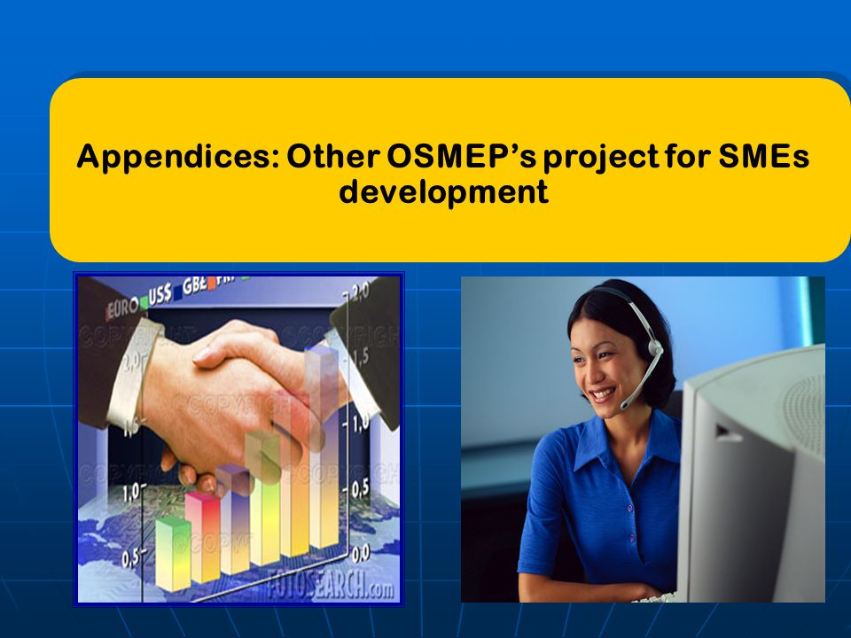Appendices: Other OSMEP's project for SMEs development