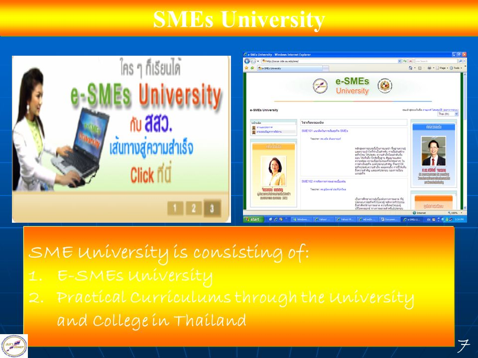 SMEs University SME University is consisting of: E-SMEs University