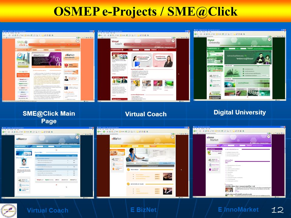 OSMEP e-Projects / SME@Click
