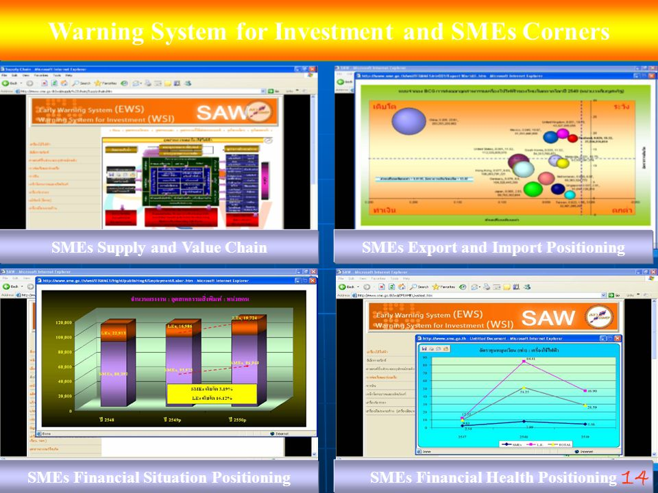 Warning System for Investment and SMEs Corners
