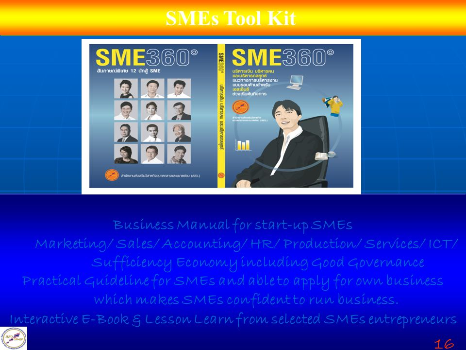 SMEs Tool Kit 16 Business Manual for start-up SMEs