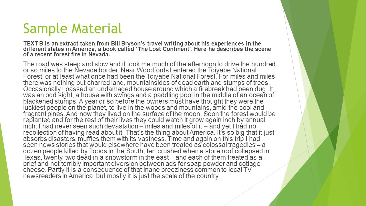 good examples of travel writing