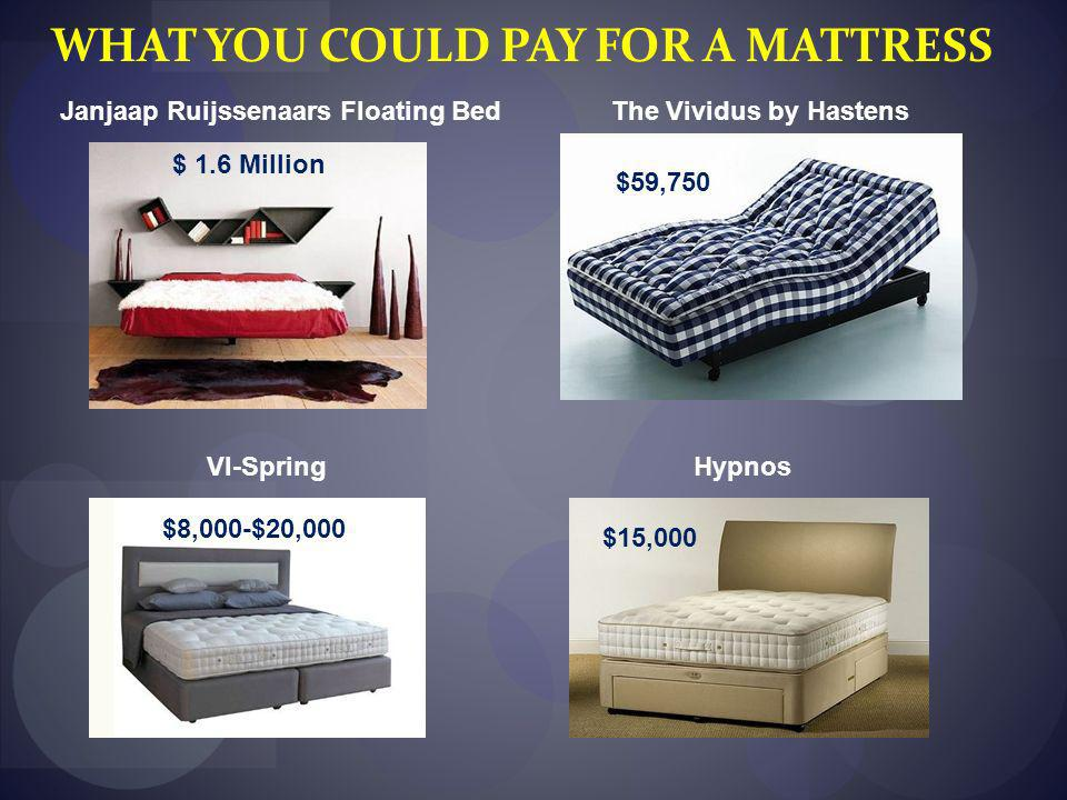 WHAT YOU COULD PAY FOR A MATTRESS Janjaap Ruijssenaars Floating Bed