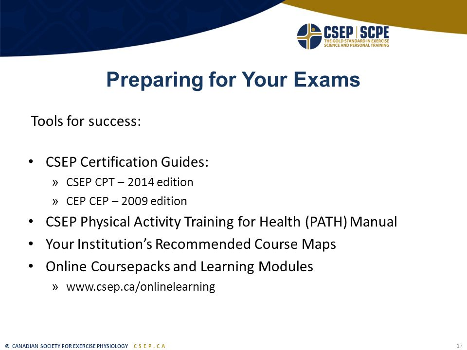 The Canadian Society for Exercise Physiology - ppt download