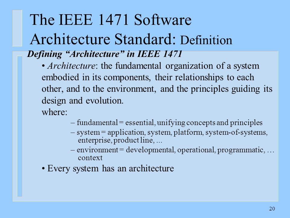 The software development standards ppt video online download for Ieee definition