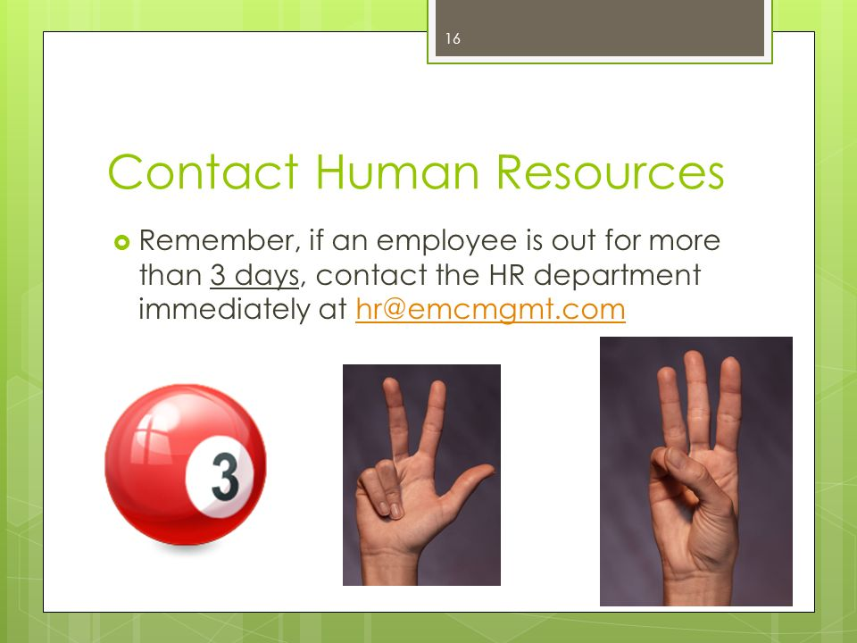 Contact Human Resources