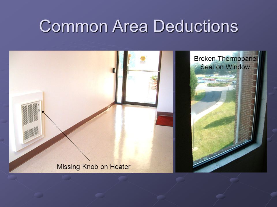 Common Area Deductions