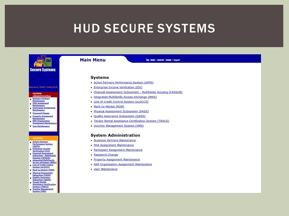 HUD Secure systems