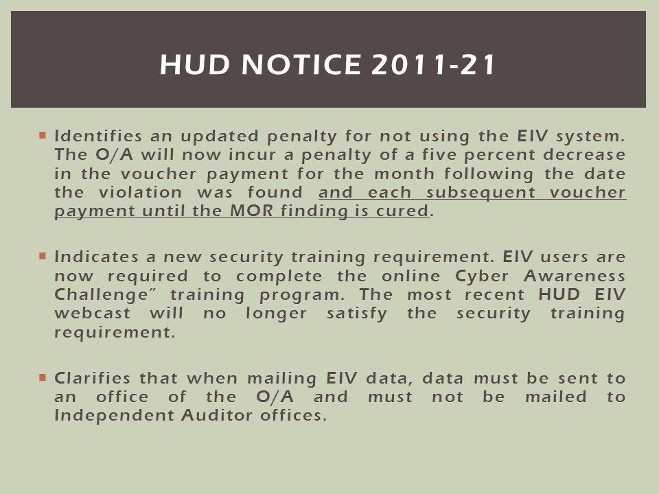 hud notice 2011-21