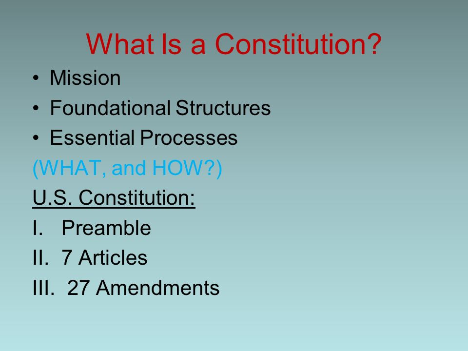 what is certainly the function involving your articles and reviews through the particular us all constitution