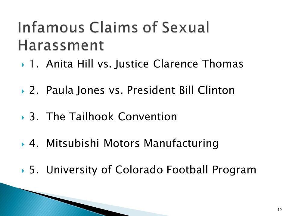 Infamous Claims of Sexual Harassment