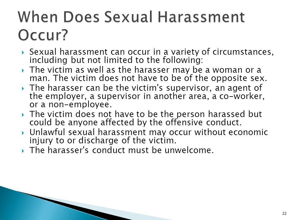 When Does Sexual Harassment Occur