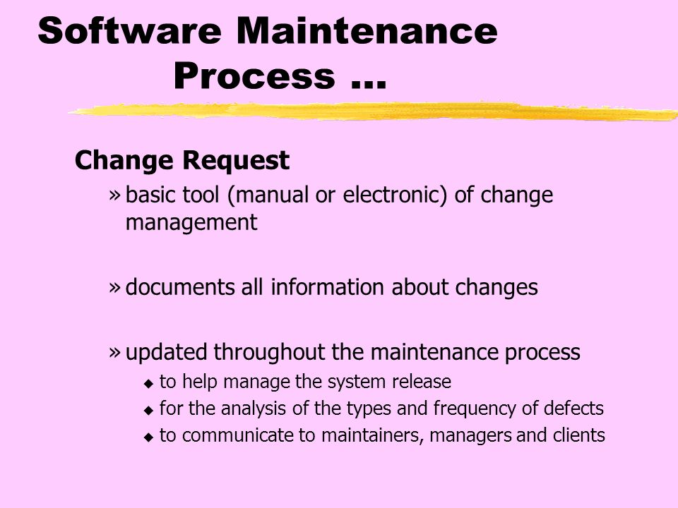 software maintenance and change control essay This free information technology essay on essay: software quality assurance plan is perfect for information software maintenance plan- provides plan for.