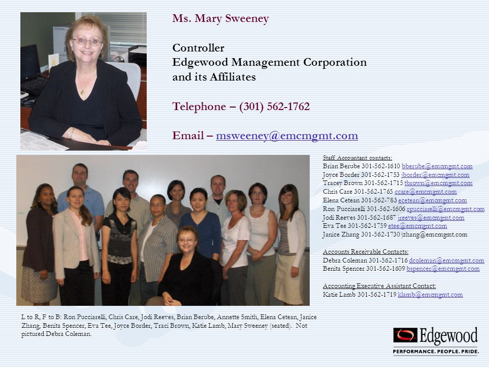 Edgewood Management Corporation and its Affiliates