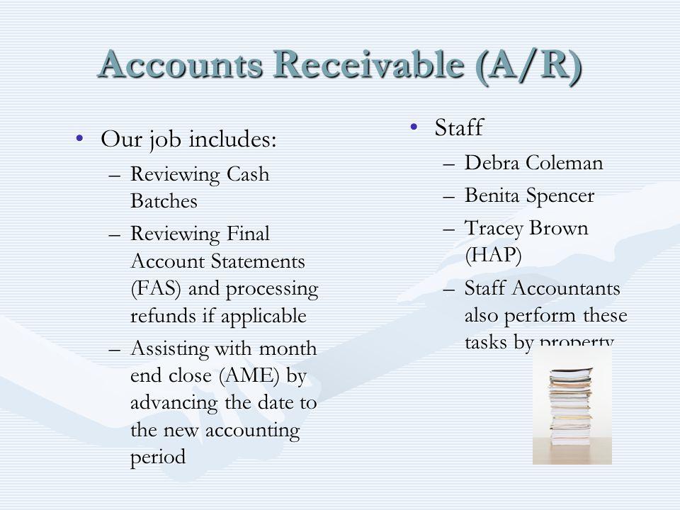 Accounts Receivable (A/R)