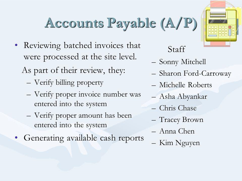 Accounts Payable (A/P)
