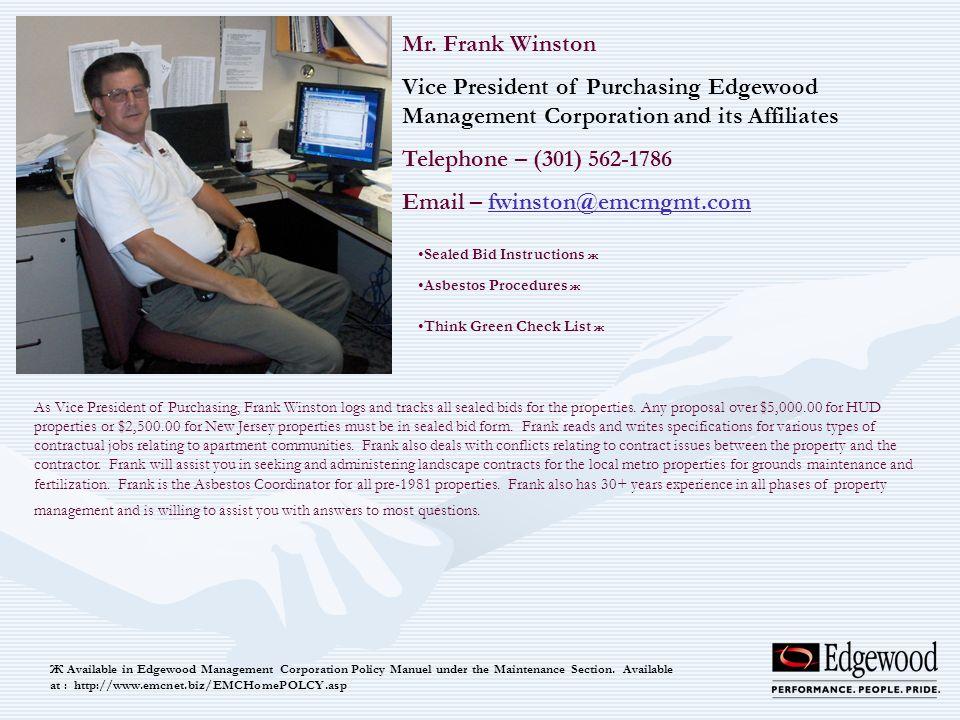 Email – fwinston@emcmgmt.com