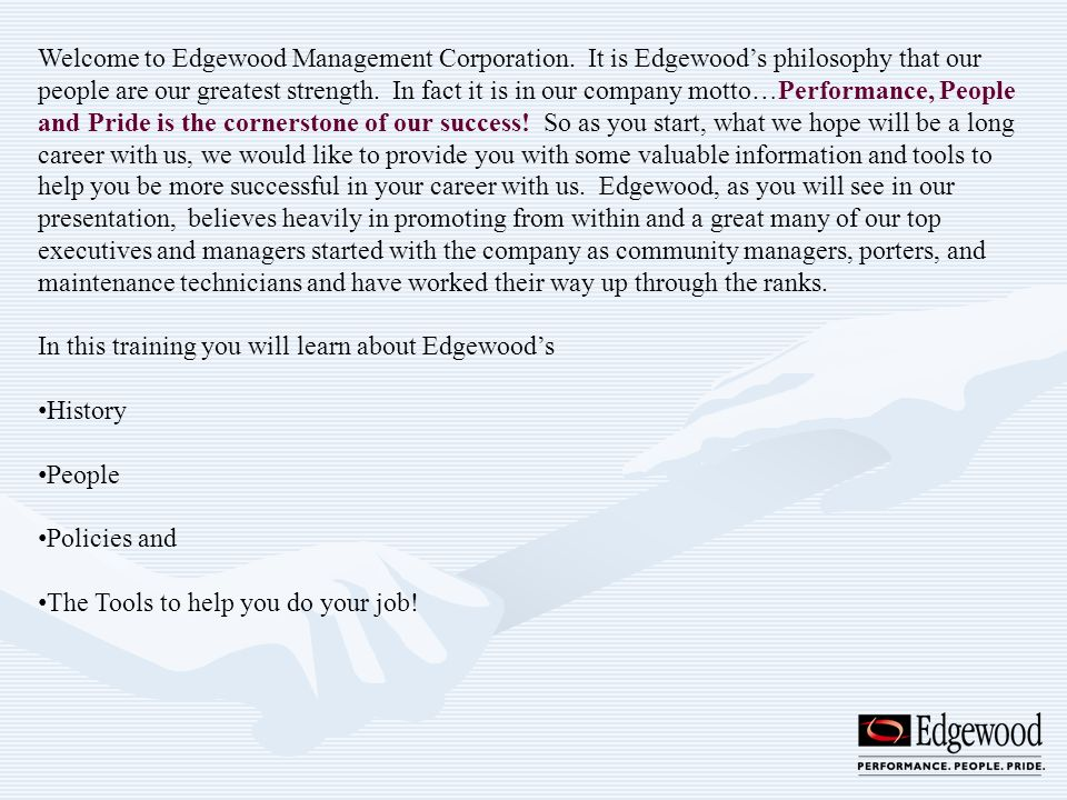 Welcome to Edgewood Management Corporation