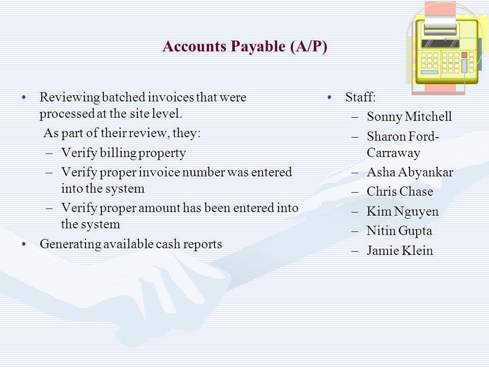 Accounts Payable (A/P)