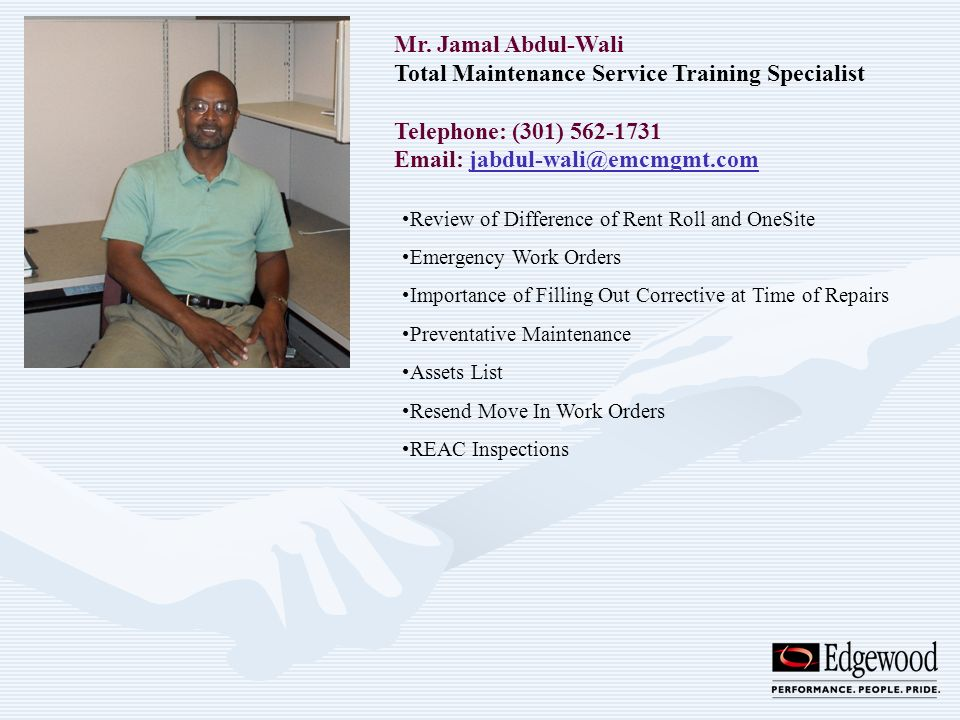 Total Maintenance Service Training Specialist