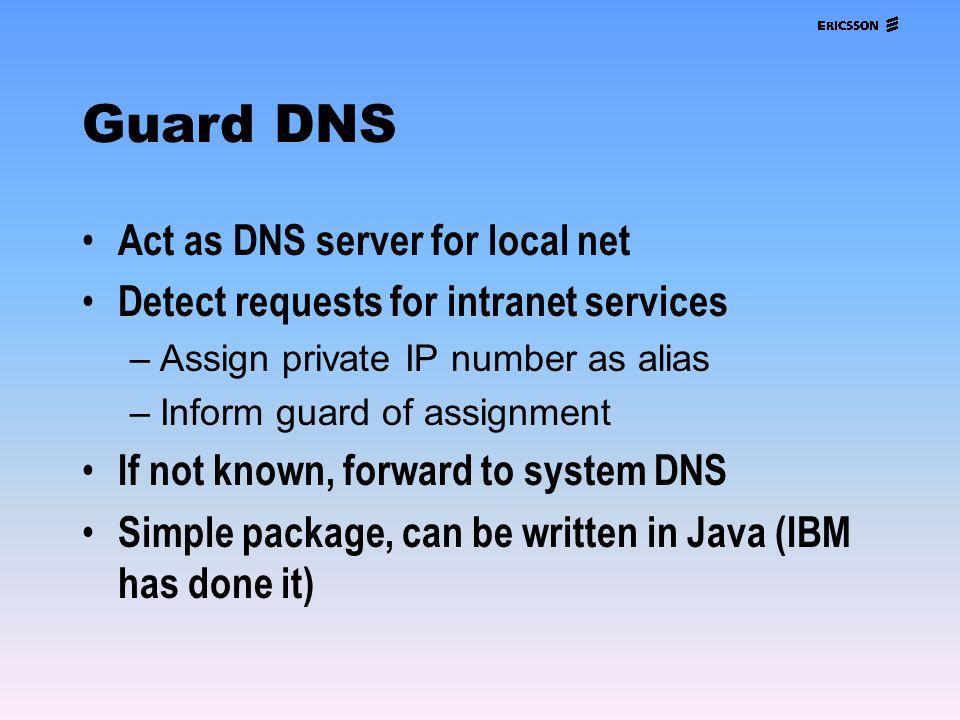 Guard DNS Act as DNS server for local net