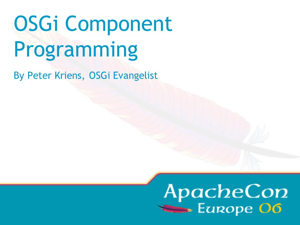 OSGi Component Programming