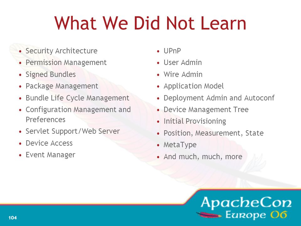 What We Did Not Learn Security Architecture Permission Management