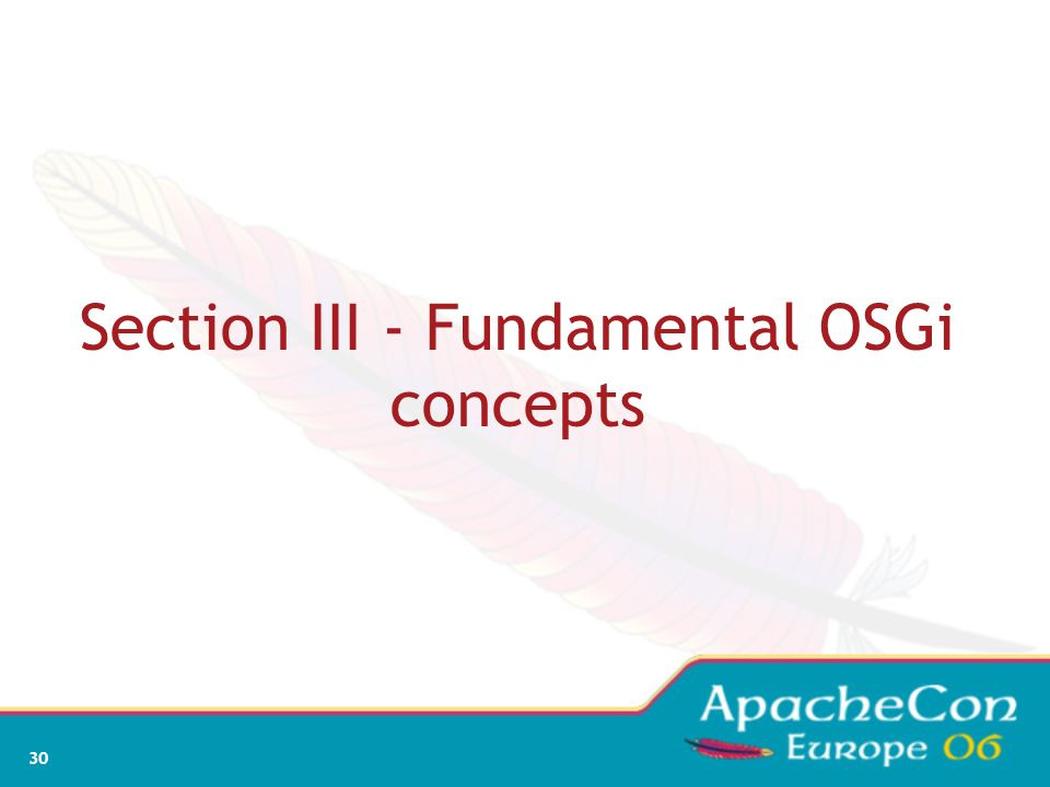 Section III - Fundamental OSGi concepts