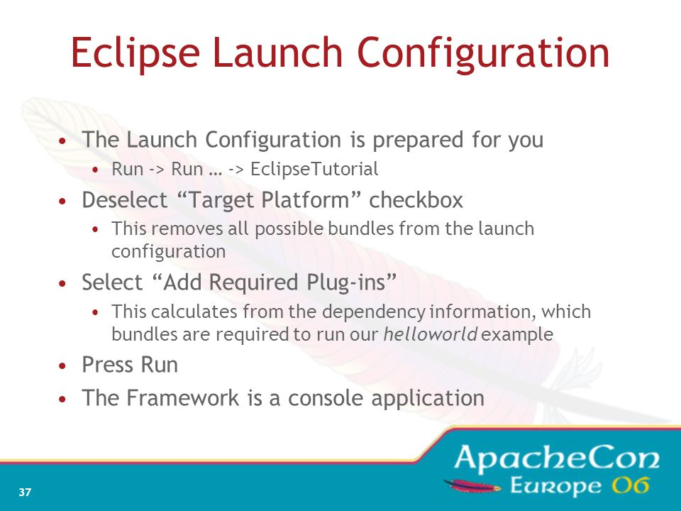 Eclipse Launch Configuration