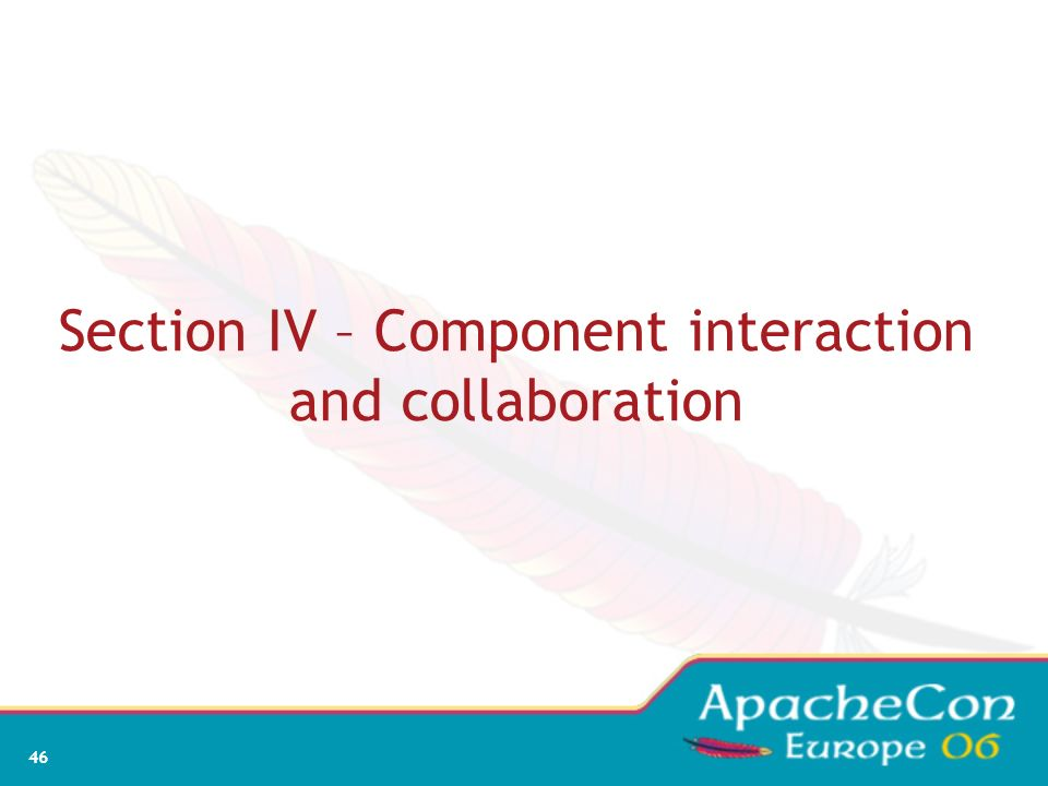 Section IV – Component interaction and collaboration