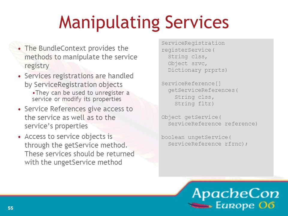 Manipulating Services
