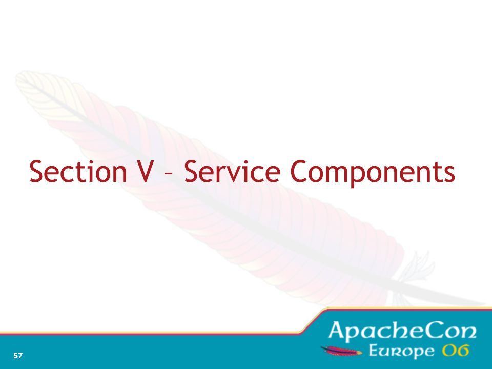 Section V – Service Components