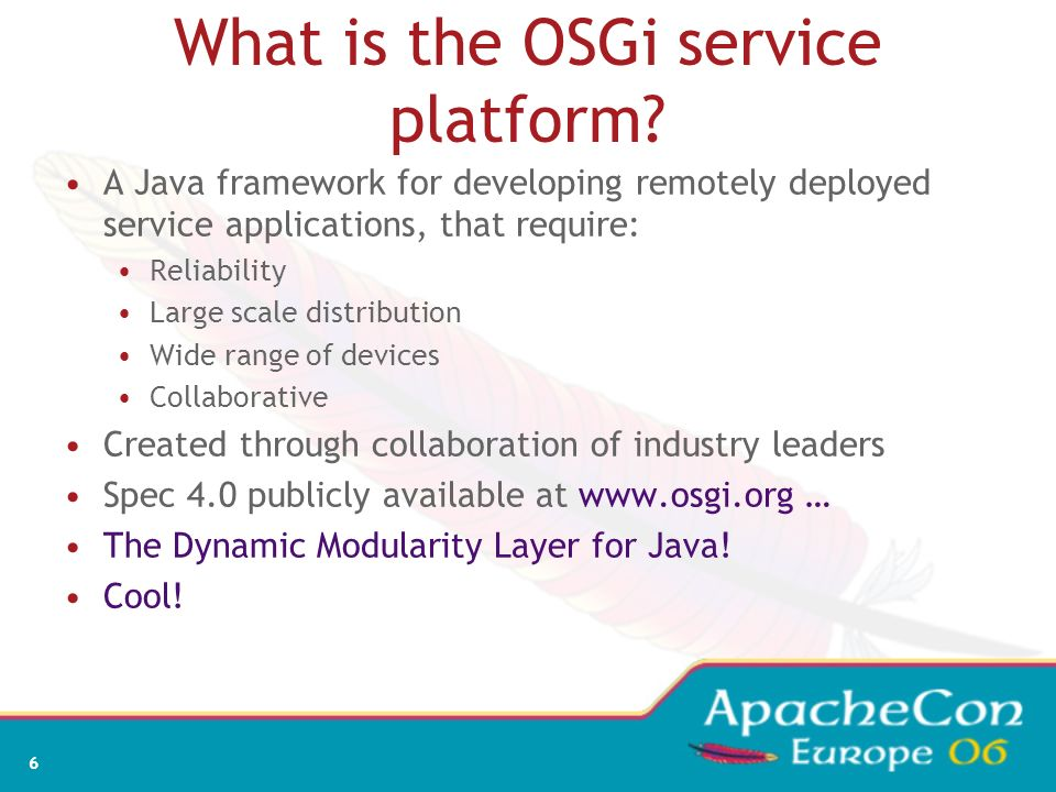 What is the OSGi service platform