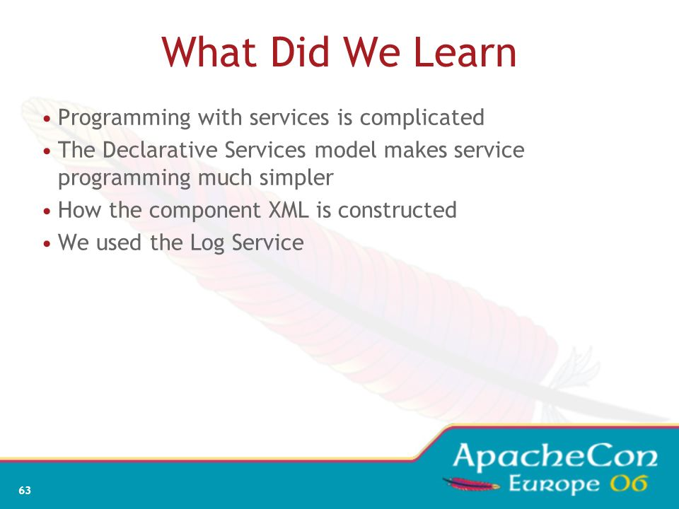What Did We Learn Programming with services is complicated