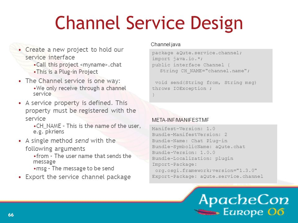 Channel Service Design