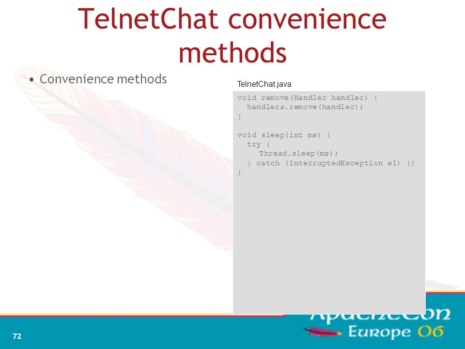 TelnetChat convenience methods