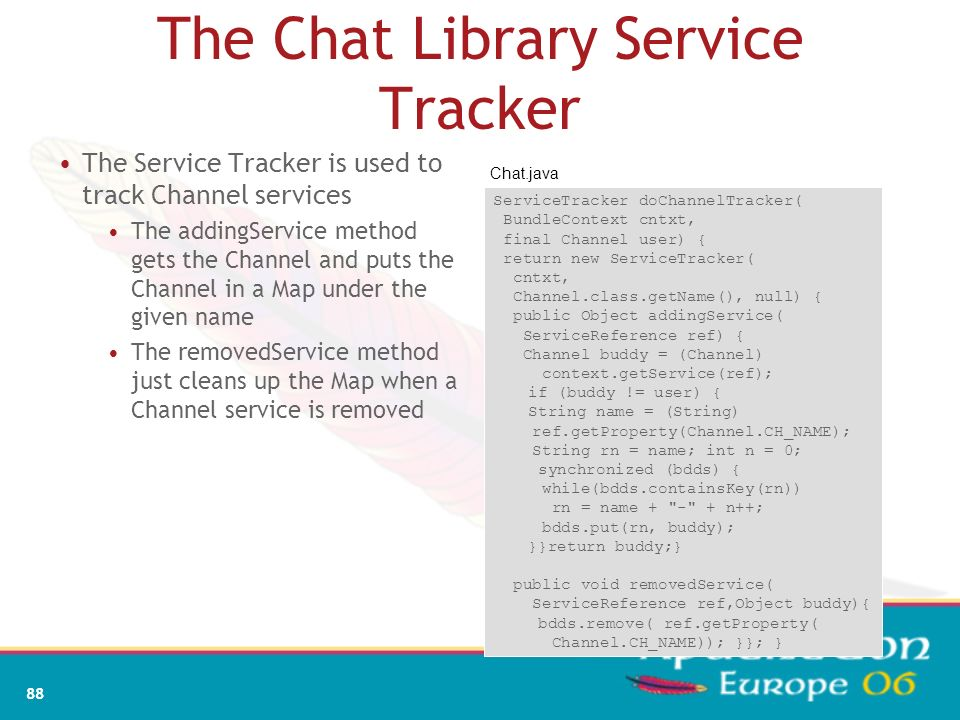 The Chat Library Service Tracker