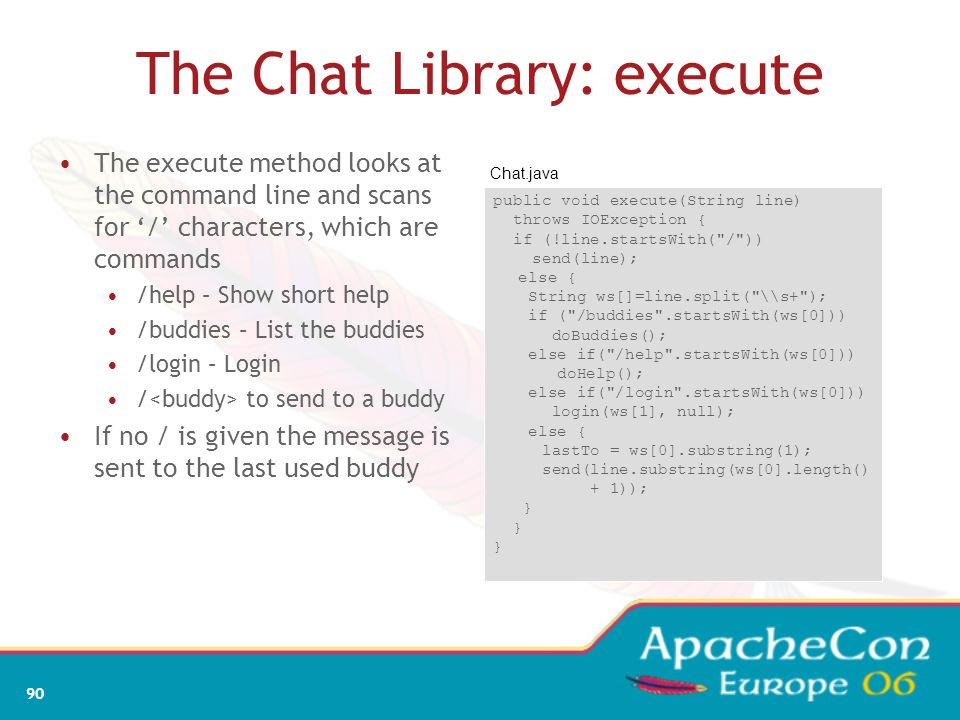 The Chat Library: execute