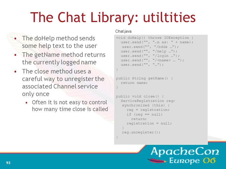 The Chat Library: utiltities