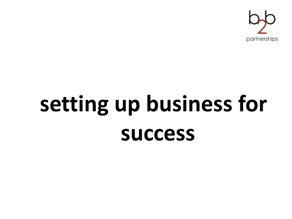 setting up business for success
