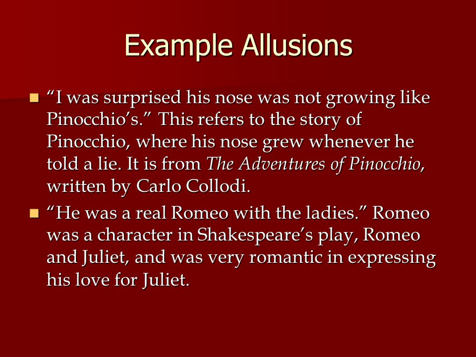 Examples Of Allusions In Romeo And Juliet Gallery Example Cover