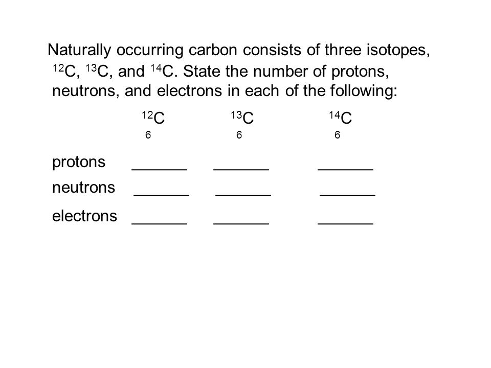 carbon and naturally occurring isotopes What is an isotope name the naturally occurring isotopes of carbon.