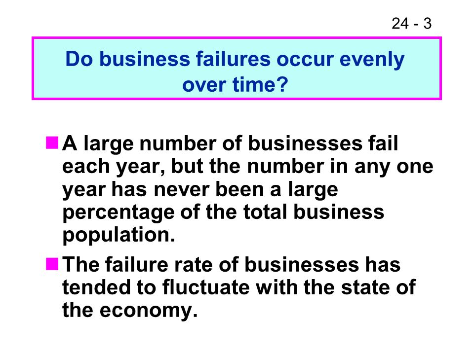 Do business failures occur evenly over time
