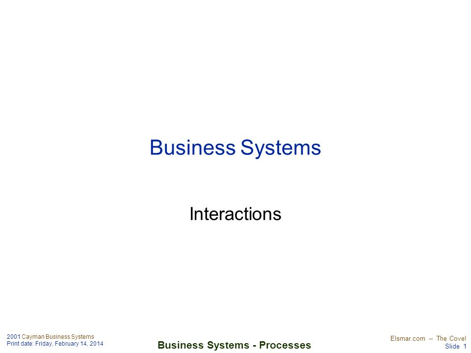 Business Systems Interactions
