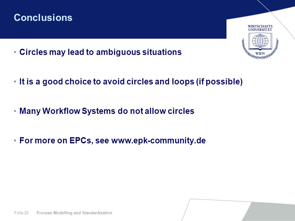 Conclusions Circles may lead to ambiguous situations