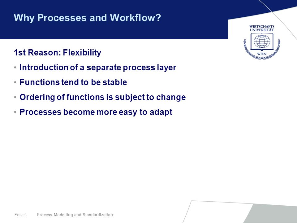 Why Processes and Workflow