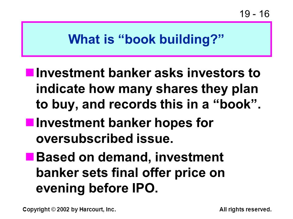 What is book building