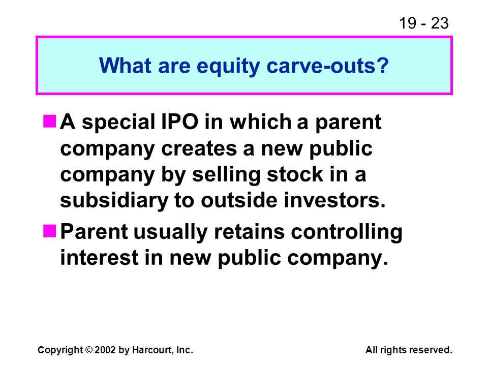What are equity carve-outs