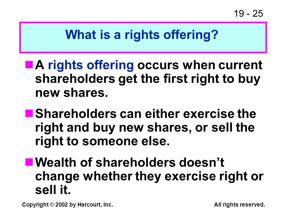 What is a rights offering